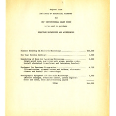 Grants and Proposals :: Departmental Information :: General Records