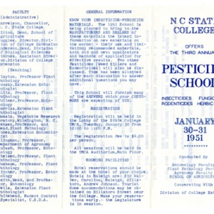 Pesticide School and pest control files