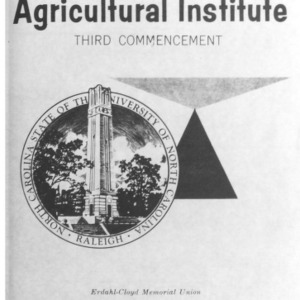 North Carolina Agricultural Institute Third Commencement, May 28, 1964