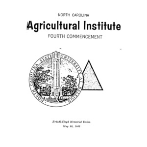 North Carolina Agricultural Institute Fourth Commencement, May 29, 1965