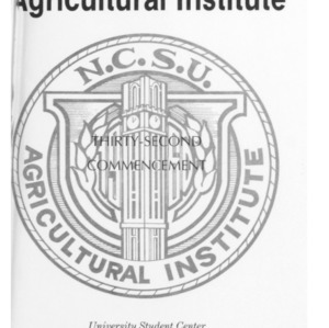 North Carolina Agricultural Institute Thirty-Second Commencement, May 7, 1993