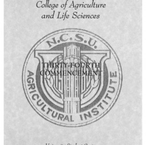 North Carolina Agricultural Institute Fall 1995 Commencement Corrected Copy, May 12, 1995