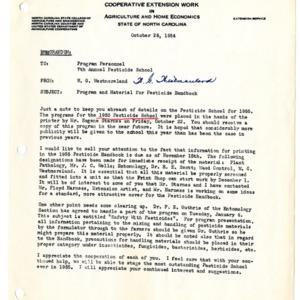 Pesticide School records, 1955-1957
