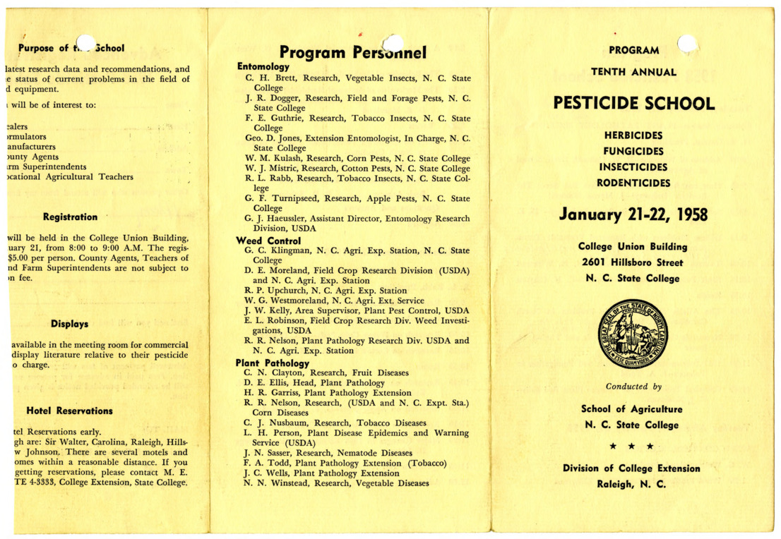 1958 :: Pesticide School :: General Records