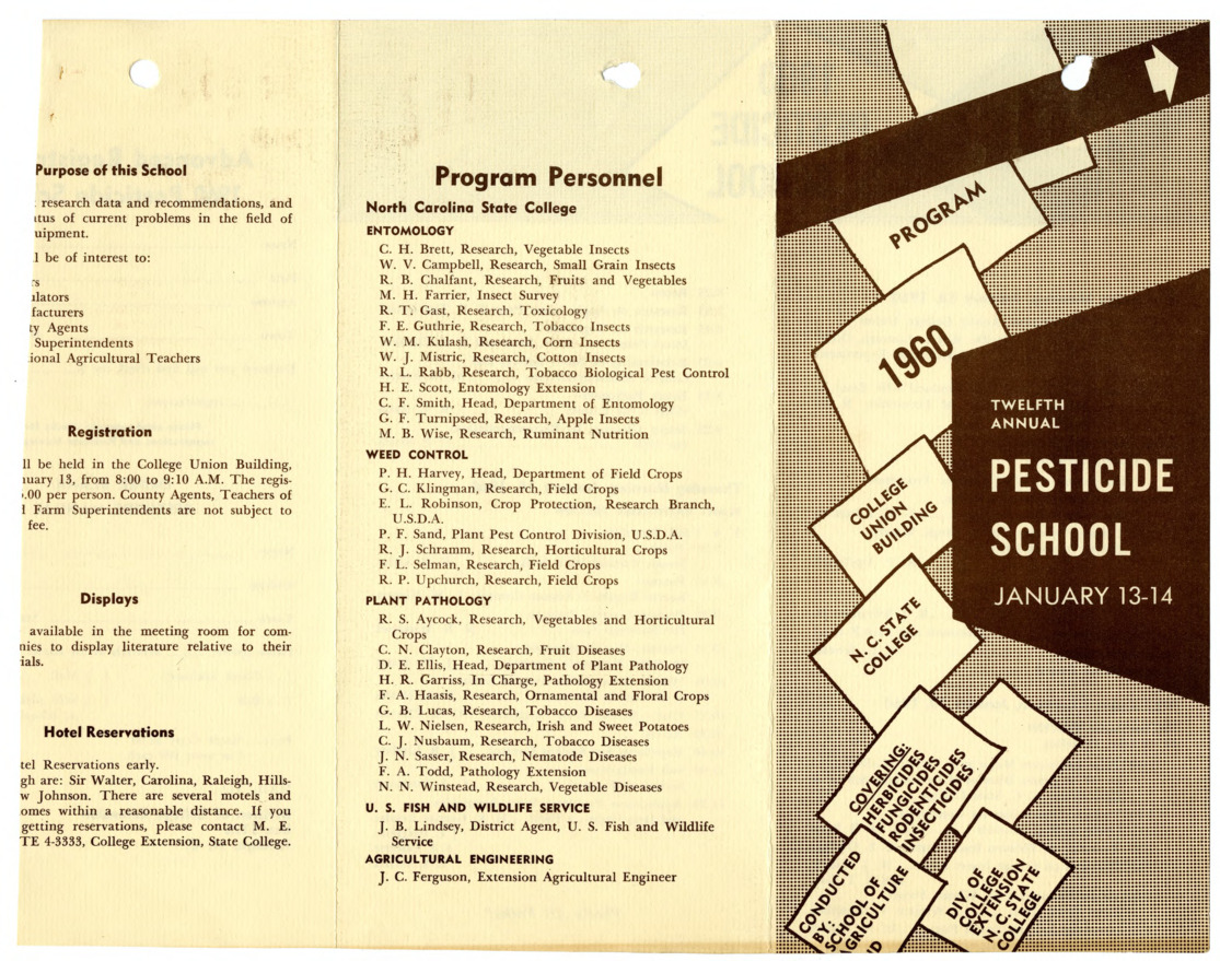 Pesticide School records, 1960