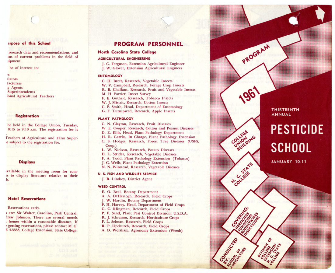 1961 :: Pesticide School :: General Records