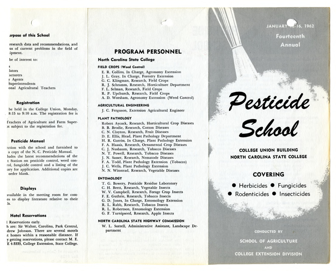1962 :: Pesticide School :: General Records