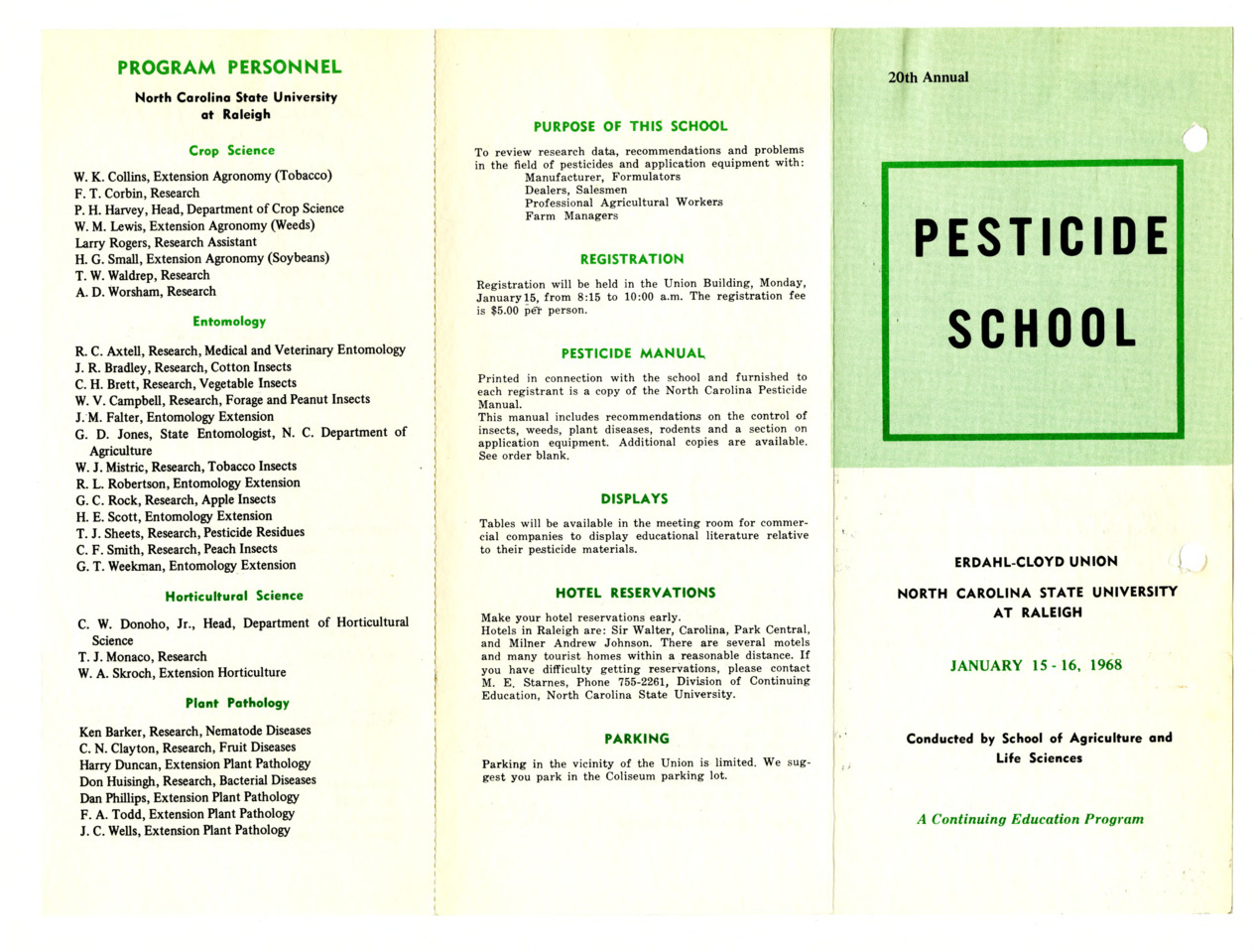 1968 :: Pesticide School :: General Records