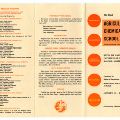 Agricultural Chemicals School annual event, 1970-1971