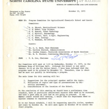 Agricultural Chemicals School annual event, 1971-1974