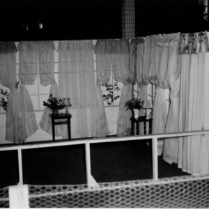 Window curtain display at fair