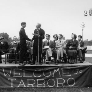 Dr. Frank H. Jetet speaking at Tarboro Day