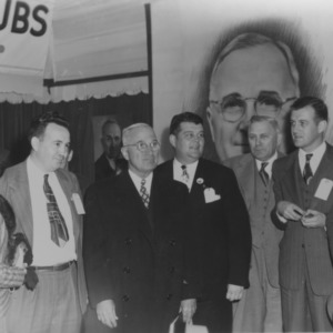 President Harry S. Truman with Governor R. Gregg Cherry at NC State Fair