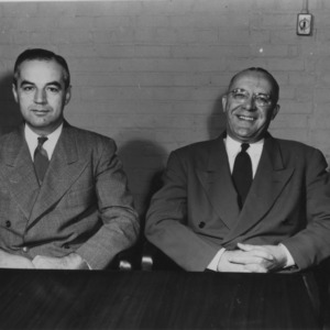 Dr. Ralph W. Cummings and Dean James H. Hilton