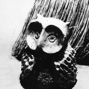 Ceramic sculpture of owl