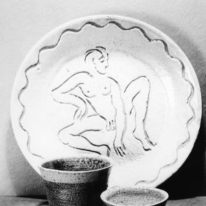 Ceramic plate and bowls