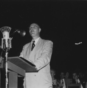 U.S. Secretary of Agriculture Charles F. Brannan speaking during Farm and Home Week