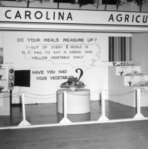 Vegetable exhibit at NC State Fair