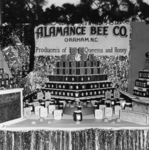 Alamance Bee County honey exhibit at NC State Fair