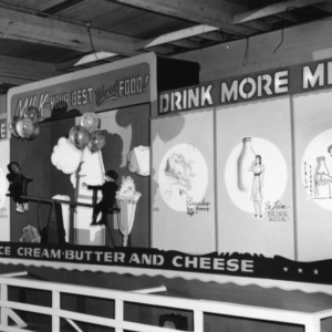 Milk products exhibit at NC State Fair