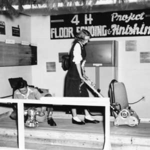4-H Club Project's floor sanding and finishing exhibit at NC State Fair