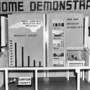 Home Demonstration's breakfast exhibit at NC State Fair