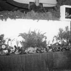 NC State Fair exhibit booth on Home Demonstration Division plant arrangements