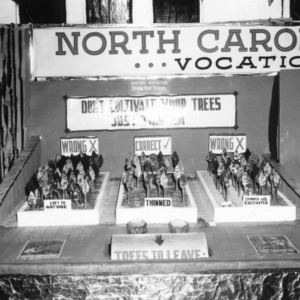 NC State Fair exhibit booth on Epson High School's vocational agriculture