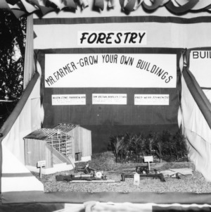 NC State Fair exhibit booth on forestry and tree farms