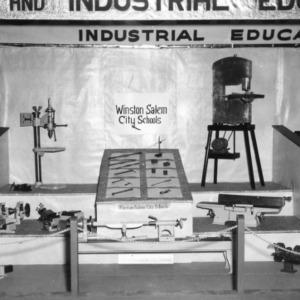NC State Fair exhibit booth on Winston Salem City Schools' industrial education