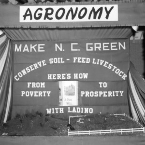 "NC State Fair exhibit booth on agronomy, ""Make NC Green"""
