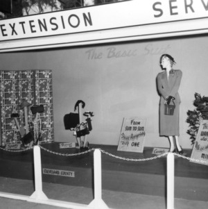 """NC State Fair exhibit booth from Extension Service, """"The Basic Suit"""""""