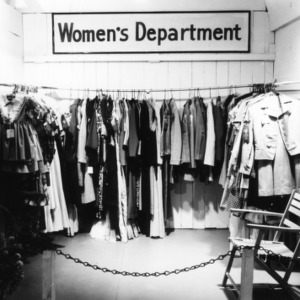 NC State Fair exhibit booth on Women's Department clothing dispaly
