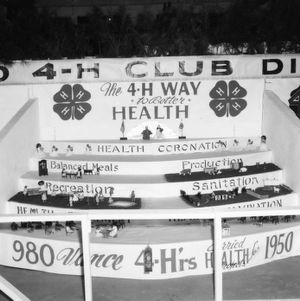 """NC State Fair exhibit booth on African American 4-H Club Division, """"""""The 4-H Way to Better Health"""""""