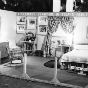 """NC State Fair exhibit booth on """"Yesterday's Furniture in Today's Fashion"""""""
