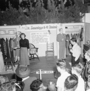 """NC State Fair exhibit booth on """"Color Seasoning for the 4-H Wardrobe"""""""