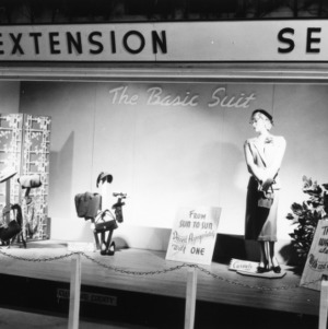 """NC State Fair exhibit booth on Extension Service """"The Basic Suit"""""""