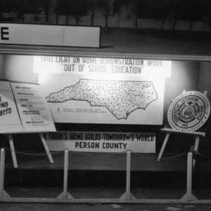 """NC State Fair exhibit booth Today's Home Builds Tomorrow's World"""""""