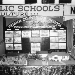 """NC State Fair exhibit booth on Pender County Trade School """"Community Improvement"""""""