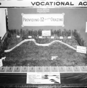 "NC State Fair exhibit booth on Seven Springs High School ""Providing 12 Months Grazing"""