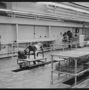 Horticulture Building, Kilgore Hall, Food lab, interiors, January 1954