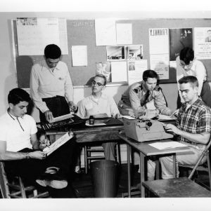College Union Publicity Comittee at Work, April 1954
