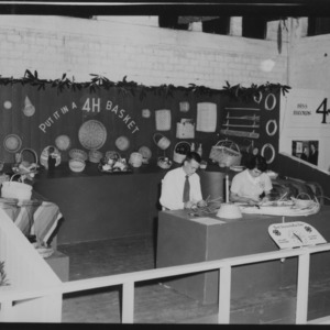NC State Fair, October 1954: Put it in a 4-H Basket