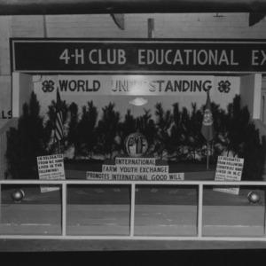 NC State Fair, October 1954: World Understanding (IFYE), 4-H