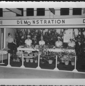 NC State Fair, October 1954: Curb Market, Allegheny County