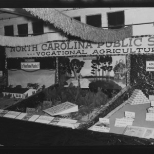 NC State Fair, October 1954: Vocational Agriculture Morven High School, Anson County