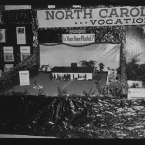 NC State Fair, October 1954: Is your home planted? Cary High School