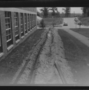 Campus improvement, ditching for electric lines, Nos. 14 and 15
