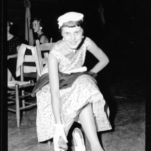 "4-H Club Week: Dress Revue Girl with ""Tired Feet"". Maxie Lee Brown; Route 1, East Bend, NC (Yadkin County)"