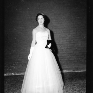 One of the Top Ten Dress Revue winners, Nancy Tuttle, during 4-H Club Week